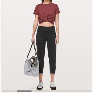 Lululemon Align Jogger Crop Pants Black Size 6